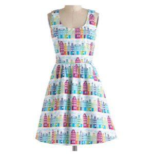 Modcloth Rainbow Row Dress - Size S - Worn once!